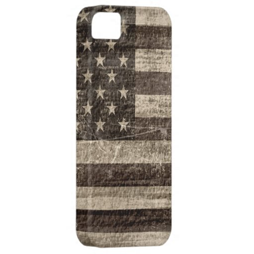 Vintage de la bandera americana iPhone 5 Case-Mate carcasa