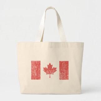 Vintage de la bandera de Canadá Bolsa