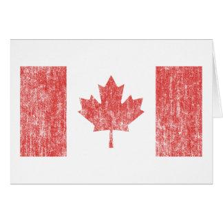 Vintage de la bandera de Canadá Felicitación