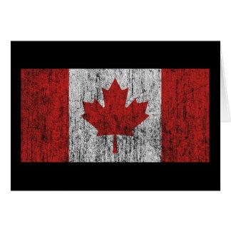 Vintage de la bandera de Canadá Tarjeta