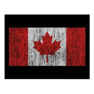 Vintage de la bandera de Canadá Tarjeta Postal