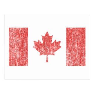 Vintage de la bandera de Canadá Postal