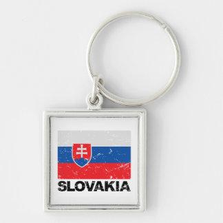 Vintage de la bandera de Eslovaquia Llaveros Personalizados