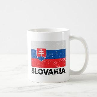 Vintage de la bandera de Eslovaquia Tazas