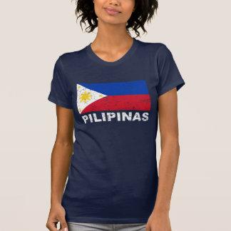 Vintage de la bandera de Filipinas Playera