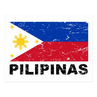 Vintage de la bandera de Filipinas Tarjetas Postales