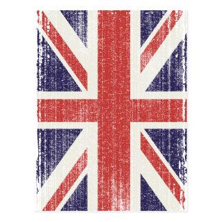 Vintage de la bandera de Gran Bretaña Postal