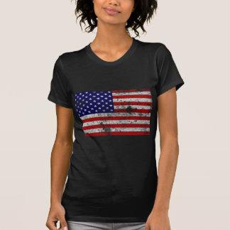 Vintage de la bandera de los E E U U Camisetas