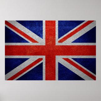 Vintage de la bandera de Reino Unido Impresiones