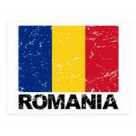 Vintage de la bandera de Rumania Postales