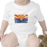 Vintage de la bandera del estado de Arizona Traje De Bebé