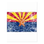 Vintage de la bandera del estado de Arizona Tarjeta Postal
