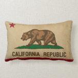 VINTAGE de la bandera del estado de California Cojín Lumbar