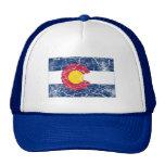 Vintage de la bandera del estado de Colorado Gorros Bordados