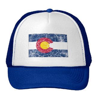 Vintage de la bandera del estado de Colorado Gorras De Camionero