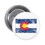 Vintage de la bandera del estado de Colorado Pin
