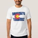 Vintage de la bandera del estado de Colorado Playeras