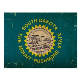 VINTAGE de la bandera del estado de Dakota del Sur Postales