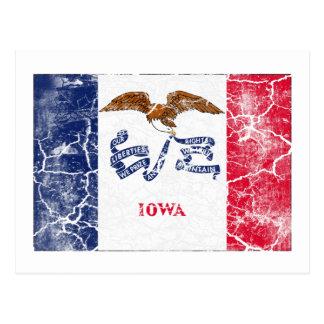 Vintage de la bandera del estado de Iowa Tarjeta Postal