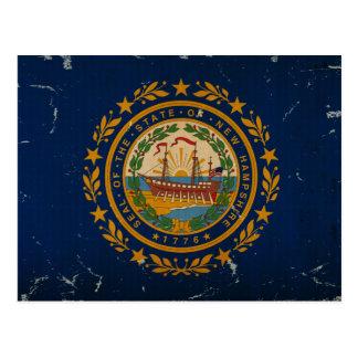 VINTAGE de la bandera del estado de New Hampshire Tarjetas Postales