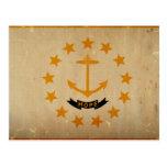 VINTAGE de la bandera del estado de Rhode Island