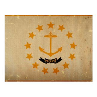 VINTAGE de la bandera del estado de Rhode Island Postal