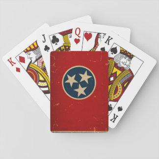 VINTAGE de la bandera del estado de Tennessee Cartas De Juego