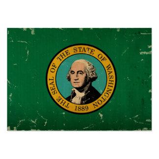 VINTAGE de la bandera del estado de Washington