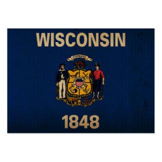 VINTAGE de la bandera del estado de Wisconsin Tarjetas De Visita Grandes