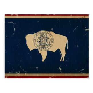 VINTAGE de la bandera del estado de Wyoming Postal