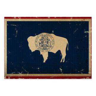 VINTAGE de la bandera del estado de Wyoming
