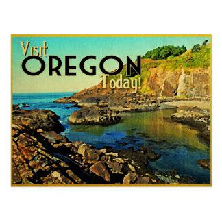 Vintage de la costa de Oregon Tarjeta Postal