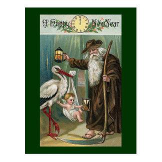 Vintage de la Feliz Año Nuevo Postales