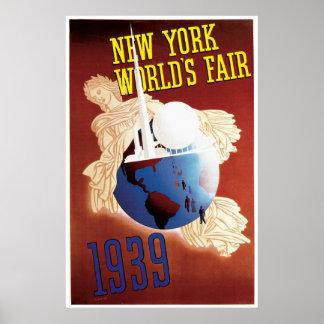 """""""Vintage de la feria de mundo de Nueva York 1939"""" Impresiones"""