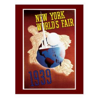 """""""Vintage de la feria de mundo de Nueva York 1939"""" Postales"""