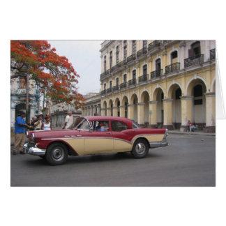 vintage de La Habana Tarjeta De Felicitación
