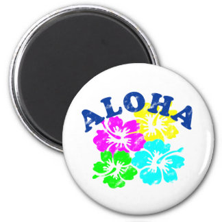 Vintage de la hawaiana imán redondo 5 cm