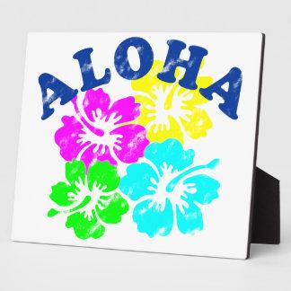 Vintage de la hawaiana placa de madera