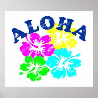Vintage de la hawaiana póster