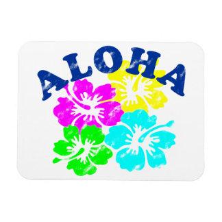 Vintage de la hawaiana rectangle magnet