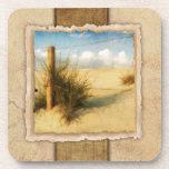 Vintage de la hierba del mar posavaso