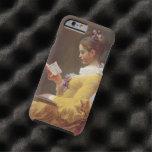 Vintage de la lectura de la chica joven de funda de iPhone 6 tough