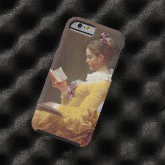 Vintage de la lectura de la chica joven de funda para iPhone 6 tough