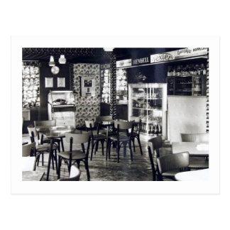 Vintage de la máquina tocadiscos de la barra del tarjetas postales