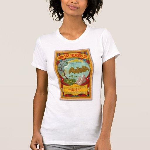 Vintage de la marca del palo de los fuegos t shirt