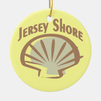 Vintage de la orilla del jersey adorno redondo de cerámica