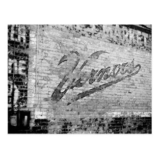Vintage de la pared de ladrillo de Ann Arbor Postal