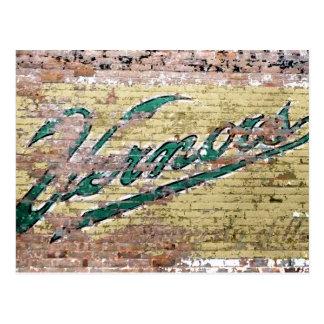 Vintage de la pared de ladrillo de Ann Arbor Tarjetas Postales