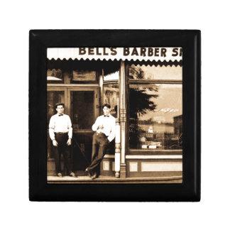 Vintage de la peluquería de caballeros de Bell ame Caja De Joyas