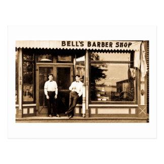 Vintage de la peluquería de caballeros de Bell Tarjeta Postal